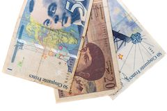 Obsolete bank notes. Isolated on a white background Stock Photo