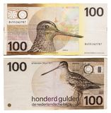 Obsolete bank notes. Obsolete Netherlands bank notes isolated on a white background Royalty Free Stock Image