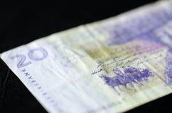 Obsolete Banknote in twenty Swedish kronor. On a dark background Royalty Free Stock Image