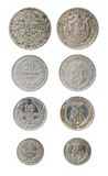 Obsolete bulgarian coins. The old bulgarian coins from 5 stotinkas to 1 leva of 1900s Royalty Free Stock Images