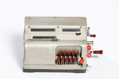 Obsolete calculator, old calculator. Royalty Free Stock Photography