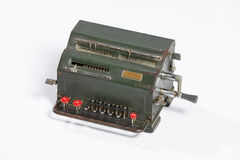 Obsolete calculator, old calculator. Royalty Free Stock Image