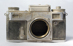 Obsolete camera. Royalty Free Stock Image