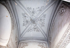Obsolete classical ceiling. With moldings Royalty Free Stock Image
