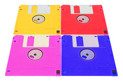 Obsolete colored floppy disks Royalty Free Stock Photo