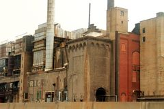 Obsolete electric power plant Stock Photos