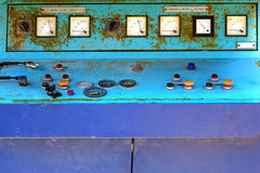 Obsolete electronic control panel of generator set Stock Photo