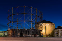 Obsolete Gas Holders Stock Photo
