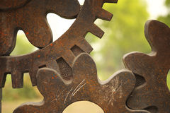 Obsolete Gears Becoming Artworks Stock Photography