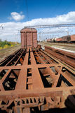 Obsolete historic railway carriage. Carcass of obsolete historic railway carriage Stock Photos