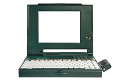 Obsolete laptop Stock Photo