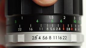 Obsolete lens presentation video stock video