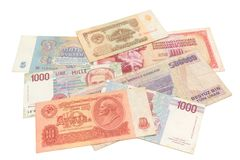 Obsolete money isolated Stock Image