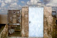 Obsolete old door Royalty Free Stock Image