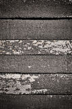 Obsolete painted planks Stock Images
