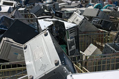 Obsolete PC recycling stock image
