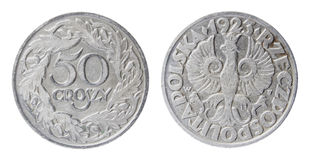 Obsolete polish coin Royalty Free Stock Images