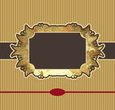 Obsolete royal gold frame design element Royalty Free Stock Photo