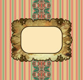 Obsolete royal gold frame design element Stock Photography