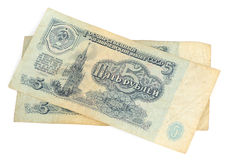 Obsolete Russian money isolated Stock Photos
