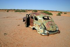 Obsolete rusted car. Stock Images
