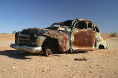 Obsolete rusted car. Royalty Free Stock Images