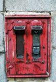 Obsolete stamp dispenser granite wall, Aberdeen, Scotland Royalty Free Stock Photos