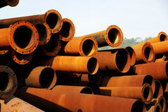 Obsolete steel pipe Stock Photography