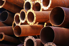 Obsolete steel pipe Stock Photo