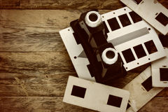 Obsolete stereoscope, stereo slides Royalty Free Stock Photo