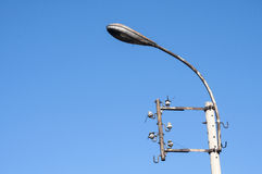 Obsolete street lighting pole Royalty Free Stock Image