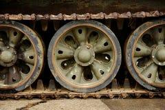 Obsolete tank tracks Royalty Free Stock Photos