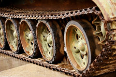 Obsolete tank tracks Royalty Free Stock Image