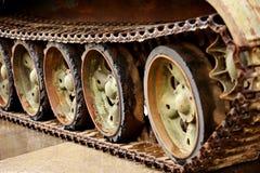 Obsolete tank tracks Royalty Free Stock Image