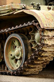 Obsolete tank tracks Royalty Free Stock Photography