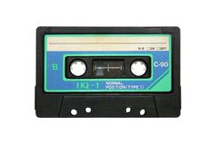 Obsolete tape cassette Stock Images