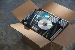 Obsolete technology in box Royalty Free Stock Photography