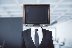 Obsolete TV headed man royalty free illustration
