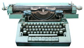 Obsolete vintage typewriter. Isolated old obsolete vintage typewriter Stock Photos