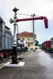 Old water crane for steam locomotives Royalty Free Stock Photos
