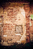 Obsolete wall of different  material Royalty Free Stock Photography