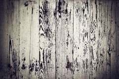 Obsolete painted wood. Obsolete weathered cracked painted wooden planks background Stock Photography