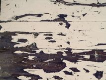 Obsolete white painted wood surface Stock Photos