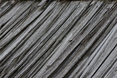 Obsolete wood planks from an old house roof. details Stock Photos