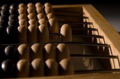 Obsolete wooden abacus Stock Image