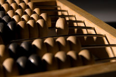 Obsolete wooden abacus Stock Photos