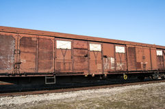 Obsolete wooden railway wagon Royalty Free Stock Image