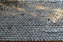 Obsoleted drewna dachu Stary tło zdjęcia royalty free