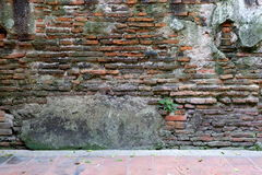 Obsoleted Old Brick Wall. Royalty Free Stock Photography