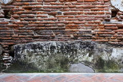 Obsoleted Old Brick Wall. Stock Photos
